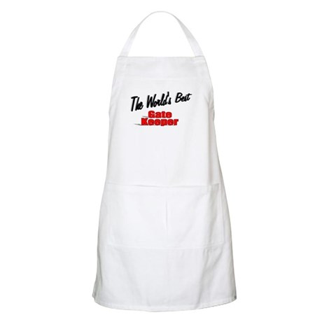 """The World's Best Gate Keeper"" BBQ Apron"