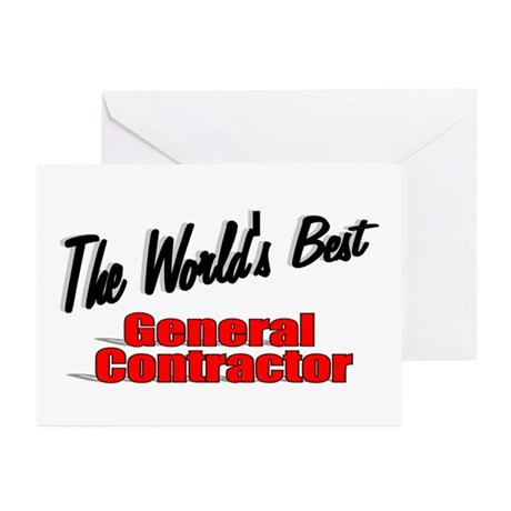"""The World's Best General Contractor"" Greeting Car"