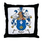 Kuder Family Crest Throw Pillow
