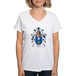 Kuder Family Crest Women's V-Neck T-Shirt