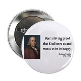 "Benjamin Franklin 8 2.25"" Button (100 pack)"