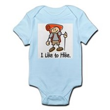 I Like To Hike (Orange) Infant Bodysuit