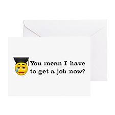 Get a Job Graduation Greeting Card