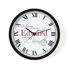 Edward Prefers Brunettes Wall Clock