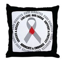 Diabetes Awareness Throw Pillow