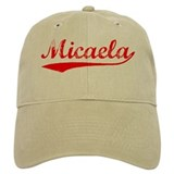 Vintage Micaela (Red) Baseball Cap
