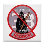 DEA Redrum Tile Coaster
