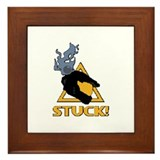 halo - stuck! Framed Tile