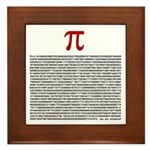 Pi = 3.1415926535897932384626 Framed Tile