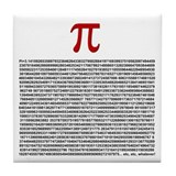 Pi = 3.1415926535897932384626 Tile Coaster