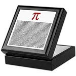 Pi = 3.1415926535897932384626 Keepsake Box
