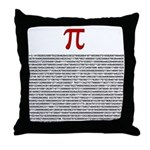 Pi = 3.1415926535897932384626 Throw Pillow