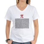 Pi = 3.1415926535897932384626 Women's V-Neck T-Shi