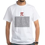 Pi = 3.1415926535897932384626 White T-Shirt