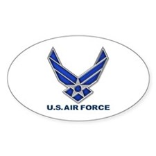 USAF 3 Diamond Symbol Oval Bumper Stickers