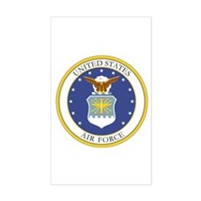 USAF Coat of Arms Rectangle Decal