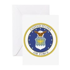 Usaf Coat Of Arms Greeting Cards (pk Of 10)