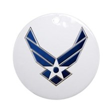 USAF 3 Diamond Symbol Ornament (Round)