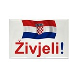 Croatian Zivjeli Rectangle Magnet