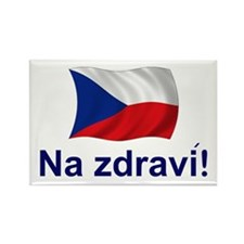 Czech Na zdravi! Rectangle Magnet