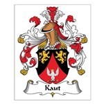 Kaut Family Crest Small Poster