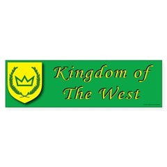 Kingdom of the West Bumper Sticker