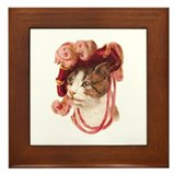 Victorian Cat Framed Tile