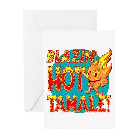 Blazin' Hot Tamale Product Mascot Greeting Card