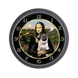 Mona Lisa & her Pug Wall Clock