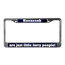 Furry People Kuvasz License Plate Frame