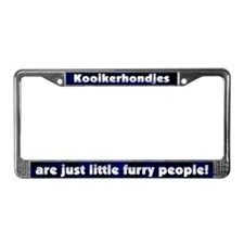 Furry People Kooikerhondje License Plate Frame