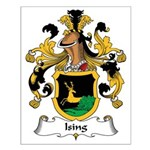 Ising Family Crest Small Poster