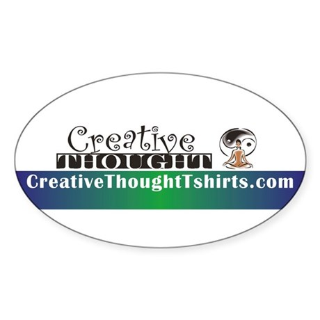 CreativeThought Oval Sticker