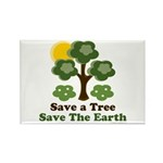 Save A Tree Save the Earth Rectangle Magnet (100 p