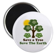 "Save A Tree Save the Earth 2.25"" Magnet (100 pack)"