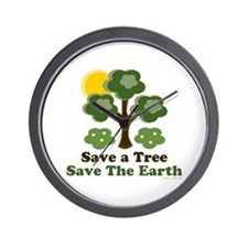 Save A Tree Save the Earth Wall Clock