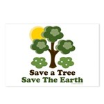 Save A Tree Save the Earth Postcards (8 Pack)