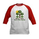 Save A Tree Save the Earth Kids Baseball Jersey