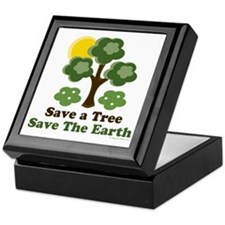 Save A Tree Save the Earth Keepsake Box