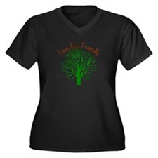 Earth Day - I am Eco Friendly Women's Plus Size V-