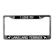 I Love My Lakeland Terrier License Plate Frame