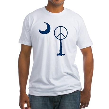 Peace Palmetto Fitted T-Shirt