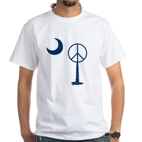 Peace Palmetto White T-Shirt