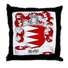 Rohr Family Crest Throw Pillow