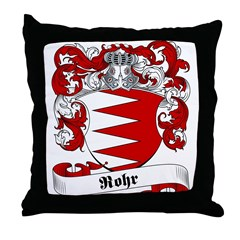 Rohr Family Crest Throw Pillow