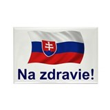 Slovak Na Zdravie! Rectangle Magnet (10 pack)