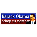 Barack Obama Brings Us Together sticker