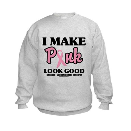 I Make Pink Look Good Kids Sweatshirt