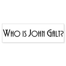 Who is John Galt? Atlas Shrug Bumper Bumper Sticker