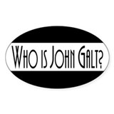 Who is John Galt? Atlas Shrug Oval Decal